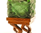 RESERVED for Tracy- Cast Glass Emerald Snake Box- OOAK