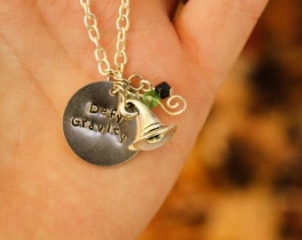 Defy Gravity Elphaba and Wicked Inspired Necklace with Swarovski Crystals and Wizard hat