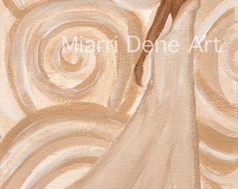 GOLDEN, black art, african american art woman print by Miarri Dene