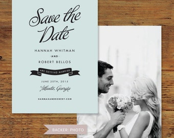 Savile Save the Date | Print-it-Yourself