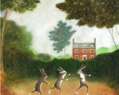 """Art Print of an Original Animal Painting: """"The Games They Play"""""""