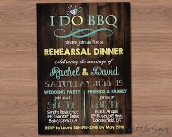 I Do Barbeque Rehearsal Dinner Invitation Digital Download