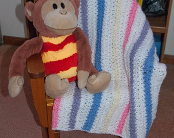 Handmade Striped Baby Afghan