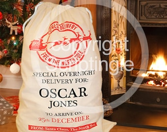Personalised heirloom santa sack / personalised Christmas sack
