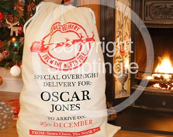Personalised heirloom santa sack / personalised Christmas sack CHRISTMAS IN JULY