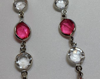 Light Pink dangle earrings.