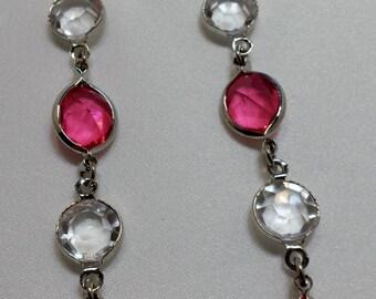 Light Pink dangle earrings.