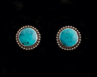Sterling Silver Turquoise Studs: JUPITER