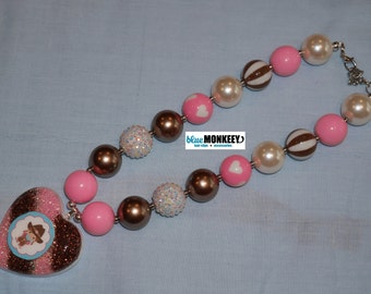 Cowgirl Chunky Bead Necklace - RTS