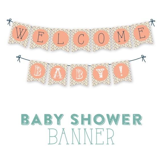 Baby Shower Banner Instant Download DIY Banner Printable