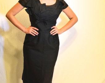 Black 1950's wiggle dress