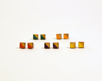 Square Colored Studs