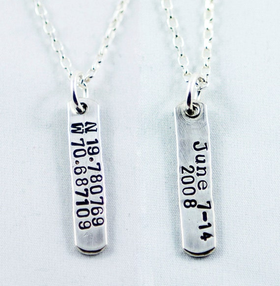 Gps Coordinates Necklace: GPS Coordinates Necklace Location Necklace Latitude And