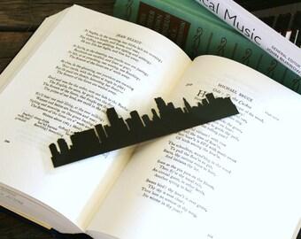 Miami, Florida - Hand-cut Silhouette Bookmark, Miami Skyline, Florida Bookmark, Travel Bookmark