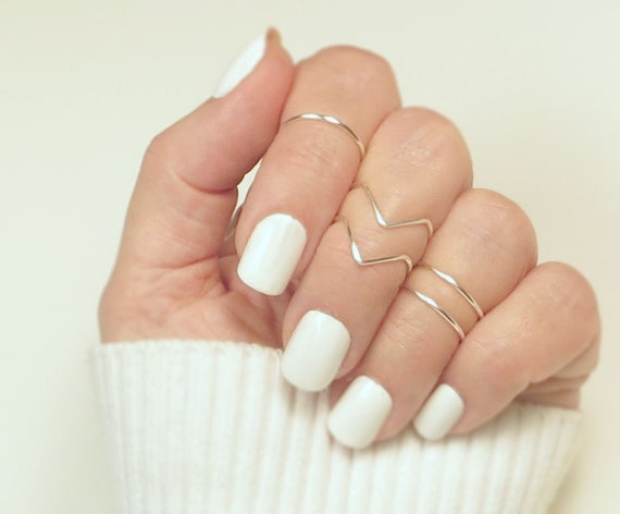 Knuckle Ring Set Midi Rings Stacking Rings Ring Set Gift