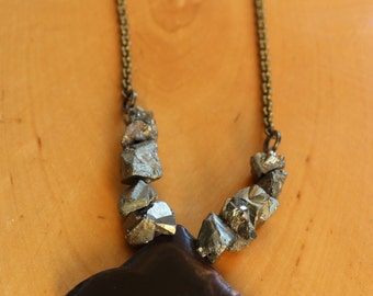 Gemstone/Pyrite Necklace