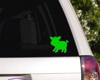 Cute Barnyard Piglet Car Window Decal