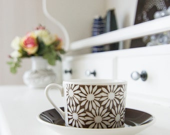 Gustavsberg Anita Cup and Saucer set designed by Margareta Hennix