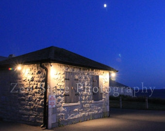 Fort Henry at Dusk Architectural Fine Art Photography. Indigo Sky Night Photography. Cobalt Blue Home Decor Wall Art. Kingston Ontario.