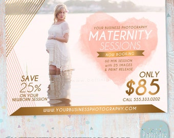 Maternity Marketing Board - Mini Sessions - Photoshop template - IR004 - INSTANT DOWNLOAD