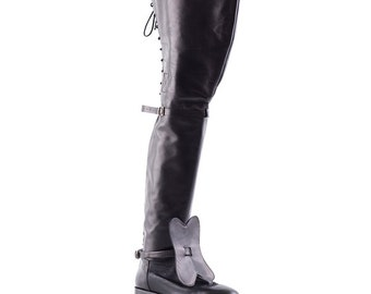 READY to ship - Stivale Moschettiere -  musketeer boot, 17 century boot, Boot ready to shipping number 43