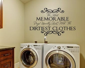 Laundry Decal Wall Decor Awesome Laundry Room Decor Laundry Wall Decalslaundry Wall Decal Inspiration Design