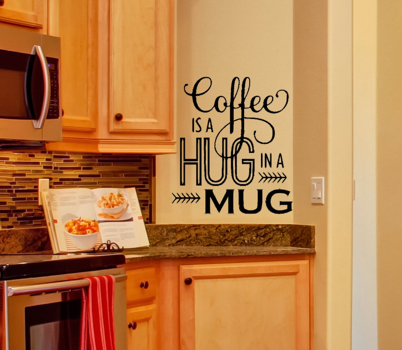 Kitchen Decor Coffee Wall Decal Kitchen By Amandasdesigndecals