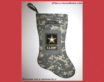 Military Xmas Stocking, ACU or Multicam