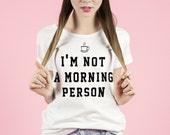 T-shirt for guys who don't like mornings :) - Morning Person - Yeah Bunny
