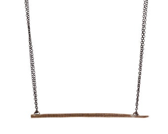 Thin Lateral African Porcupine Quill Necklace
