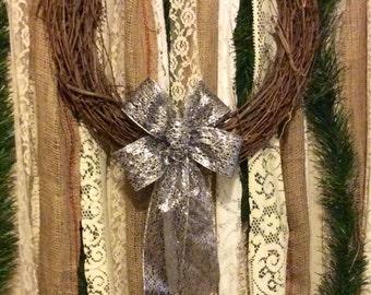 Mini All Hallows' Eve Bow/ Small Halloween Bow/ Handmade Halloween Decoration/ Halloween Wreath Bow/ Black and Silver Bow