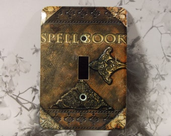 Metal Witch Toggle Light Switch Cover - Spell Book - Single Toggle - Spell Book