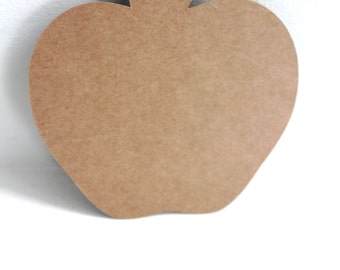 50pcs Rustic apple tags, Kraft apple tags, Country wedding tags, Rustic wedding tags, Kraft paper tags, Apple cutouts, Wishing tree tags