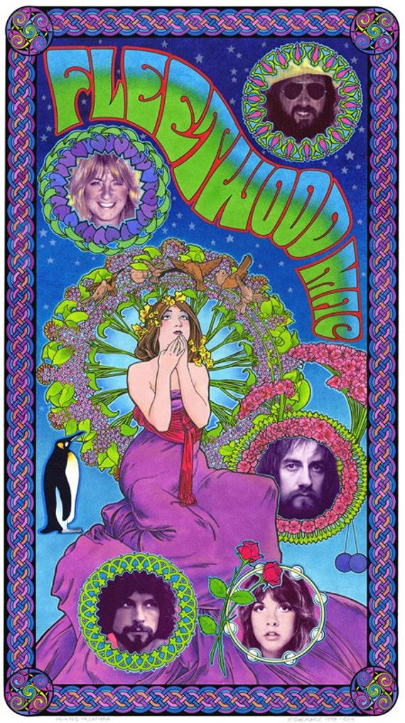 Fleetwood Mac art nouveau poster