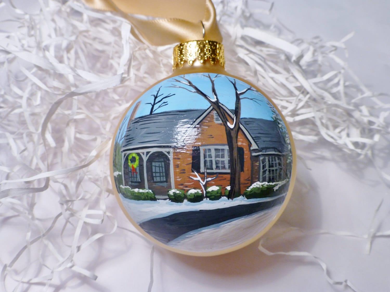 Custom house ornament portrait handpainted on glass ball