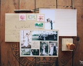 "Vintage Wedding Thank You Cards with Rustic Photography Collage - Printable Thank You Wedding Thank You Notes - 5"" x 7"""