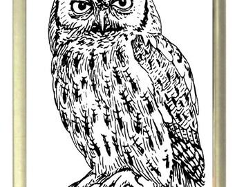 Owl Fridge Magnet 7cm by 4.5cm,