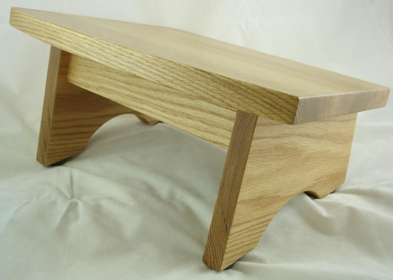 Wood Foot Stool ~ Wooden nursing foot stool footrest footstool wood ergonomic
