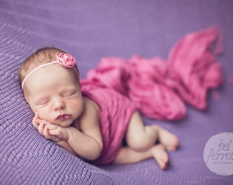 Flower Headband, Pink Headband, Pink Flower, Pink Flower Headband, Baby Headband, Photo Prop, Newborn Headband, Photography Prop