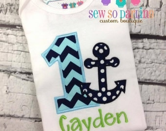 Baby Boy Nautical Birthday Outfit - 1st Birthday Anchor Birthday Outfit - 1st Birthday Outfit - Boy First Birthday outfit