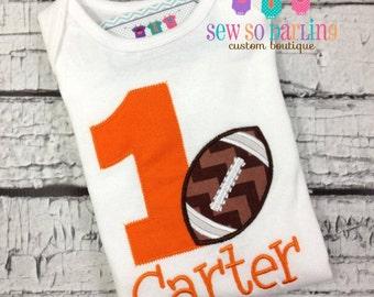 1st Birthday Football Shirt - Toddler Birthday Shirt - Football Birthday Outfit - Birthday shirt