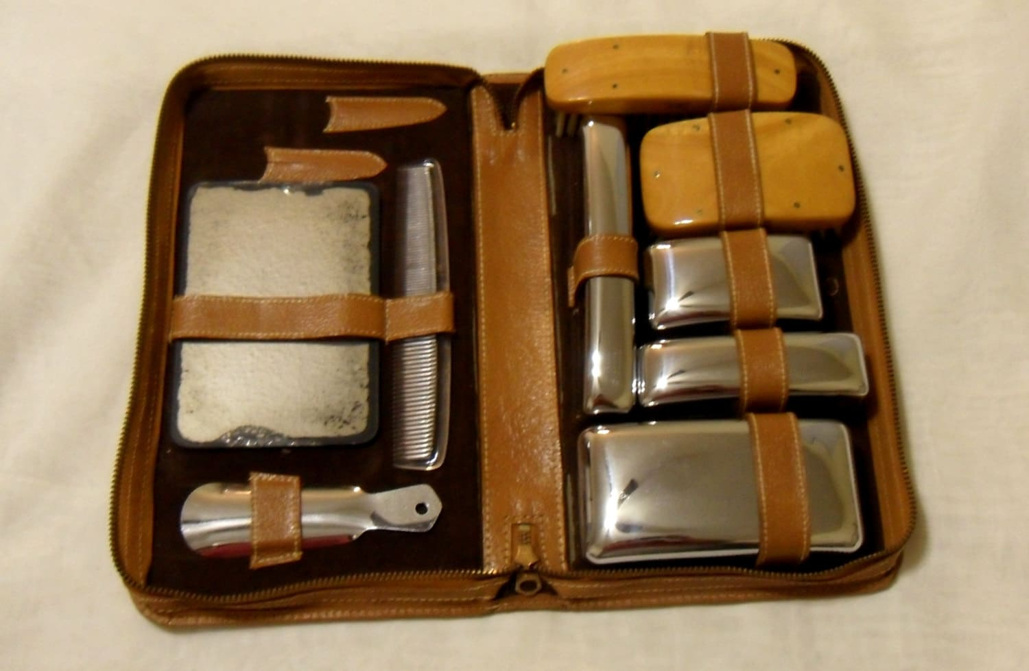 Mens travel set toiletry case bathroom by for Mens bath set