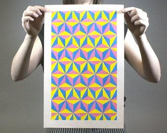 Triangle City 1 | Risograph Print