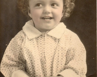 Antique Photo of Cute Smiling Girl
