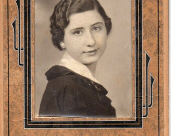 Antique Photo of Cute Young Lady