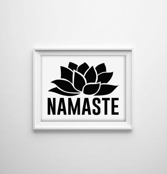 Items Similar To Namaste Black And White Typographic Art