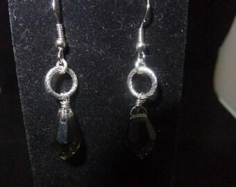 Grey Crystal Earrings