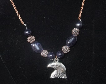 Ravenclaw Blue & Bronze Necklace (R1)