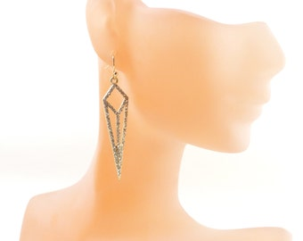Crystal earrings, anniversary gift/diamond earrings/ dangle earring, Christmas presents, Holiday gift, gift ideas