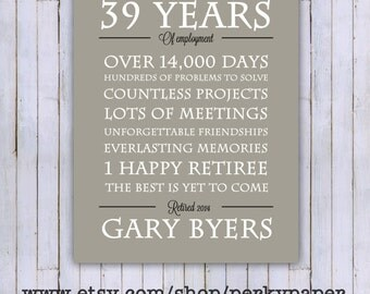 Retirement gift/print - retirement Poster- Retirement party- 8x10- 11x14- 16x20 digital file (ONLY)